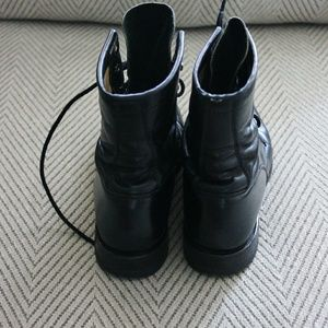 Justin Boots Shoes - Justin Black Lace Up Boots Size 6.5